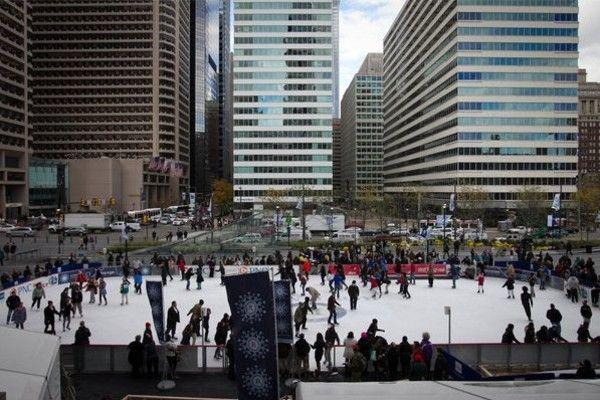 Lace 'Em Up! Rothman Rink at Dilworth Park!