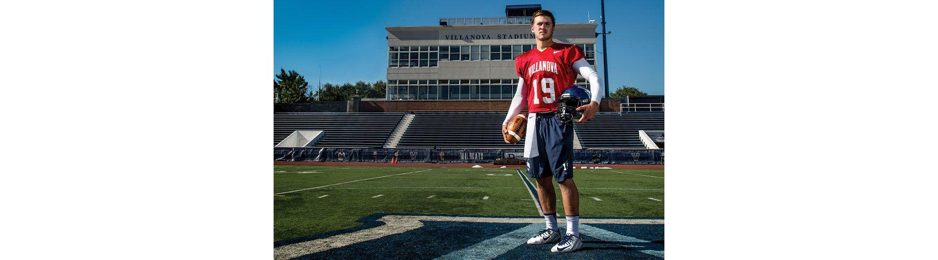 Villanova quarterback John Robertson knee ligament injury.jpg
